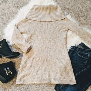 Fenn Wright Manson | tan wool cowl neck sweater